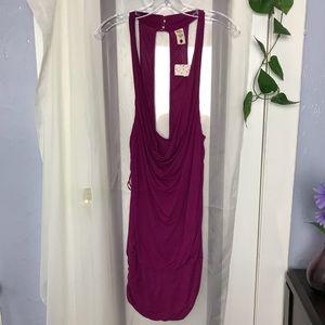 Free People Bodycon  Purple mini dress size L